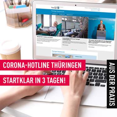 Corona-Hotline Thüringen - cloudbasierte Anrufverteilung geht nach nur 3 Tagen an Start!