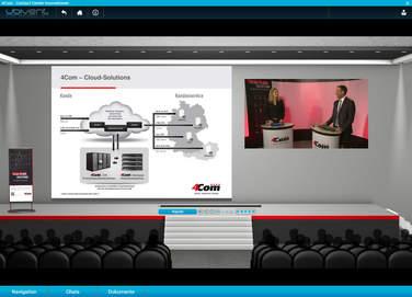 Im CCI-Vortragsraum 4Com interessante Beispiele aus der Call Center-Praxis und beantworteten die Fragen der Teilnehmer zu Cloud Lösungen.