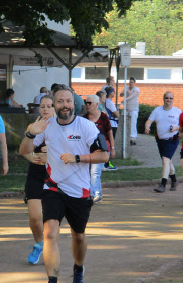 4Com-Geschäftsführer Rainer Holler beim Mukoviszidose-Spendenlauf 2019
