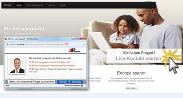 Live-Beratung per Chat im Internet