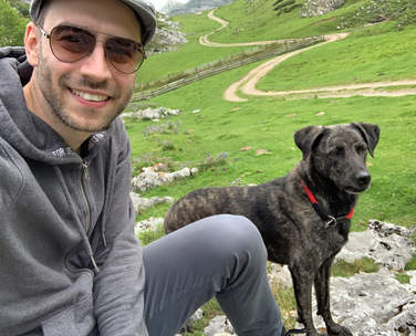 Foto von Marc Hinz in den Bergen