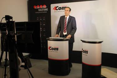 Holger Klewe begrüßt die Zuschauer bei der virtuellen CCI 2016.