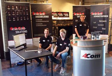 Als Arbeitgeber und Ausbildungsbetrieb kann sich 4Com sehen lassen - die 4Com-Azubis Jan, Gero und Tobias können das nur bestätigen!