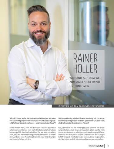 Interview mit 4Com-Geschäftsführer Rainer Holler, Seite 1