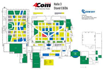 4Com auf der CCW 2017 Halle 3 Stand C8/D6