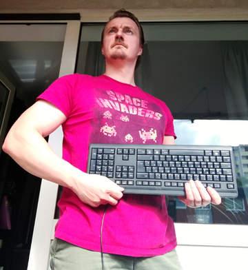 Timo Reitz mit Keyboard