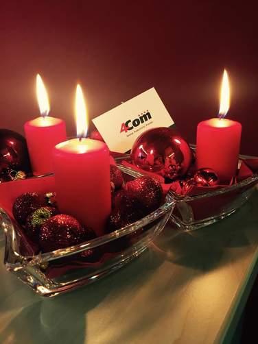 4Com wünscht Ihnen allen frohe Weihnachten und alles Gute im neuen Jahr!